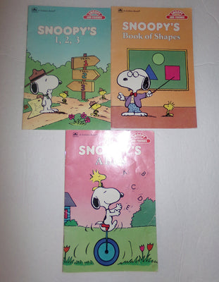 Snoopy Peanuts Book Lot - We Got Character