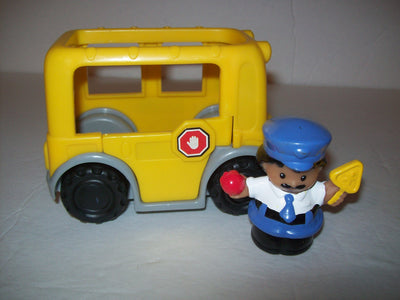 Fisher Price Little People Bus and Crossing Guard-We Got Character