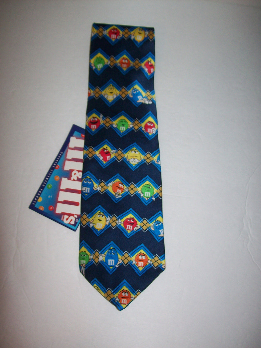 M&M's Men's Striped Necktie-We Got Character