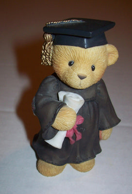 Cherish Teddies Graduate Avon Exclusive Figurine - We Got Character