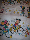 Mickey Mouse and Friends White Twin Sheet Bikes -We Got Character