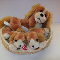 Cocker Spaniel talking Dogs In Basket Plush - We Got Character