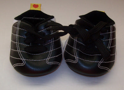 Build A Bear Black and White Shoes Cleats - We Got Character