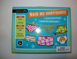 Wash My Underpants Game Make Believe Play-We Got Character
