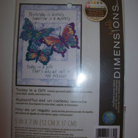 "Dimensions Stamped Cross Stitch Kit ""Today Is A Gift"" 5x7-We Got Character"