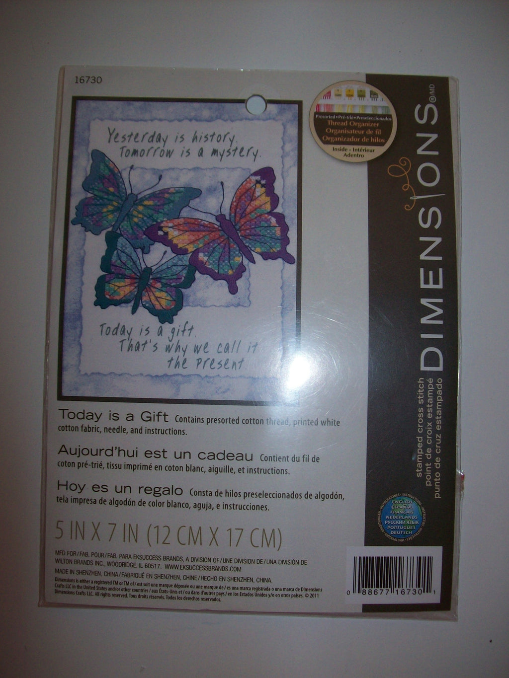 "Dimensions Stamped Cross Stitch Kit ""Today Is A Gift"" 5x7 - We Got Character"