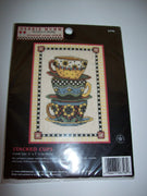 Debbie Mumm Stacked Cups Counted Cross Stitch Kit - We Got Character