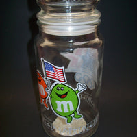 M&M Olympic Glass Candy Jar