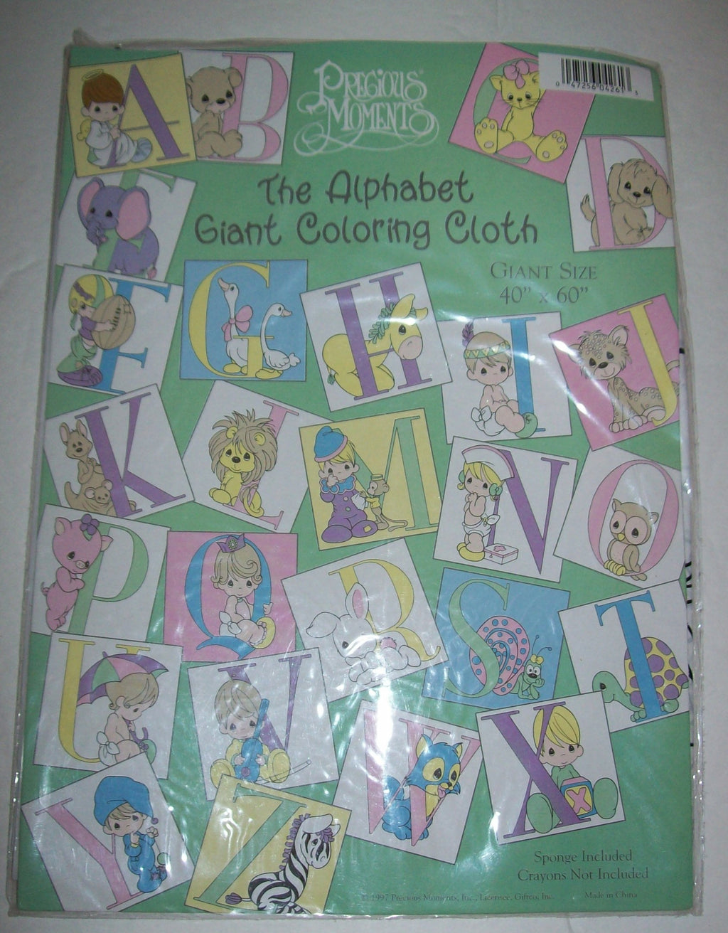 Precious Moments The Alphabet Giant Coloring Cloth-We Got Character