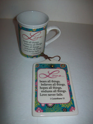 Love Bears All Things Coffee Cup & Plaque - We Got Character