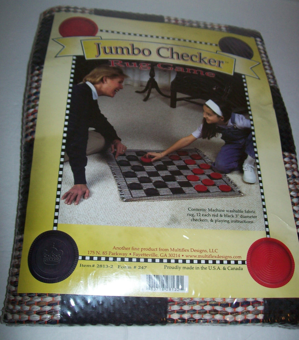 Jumbo Checkers Rug Game - We Got Character