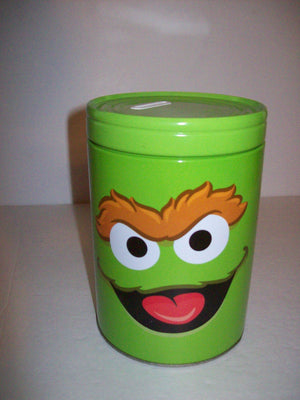 Oscar the Grouch Tin bank - We Got Character