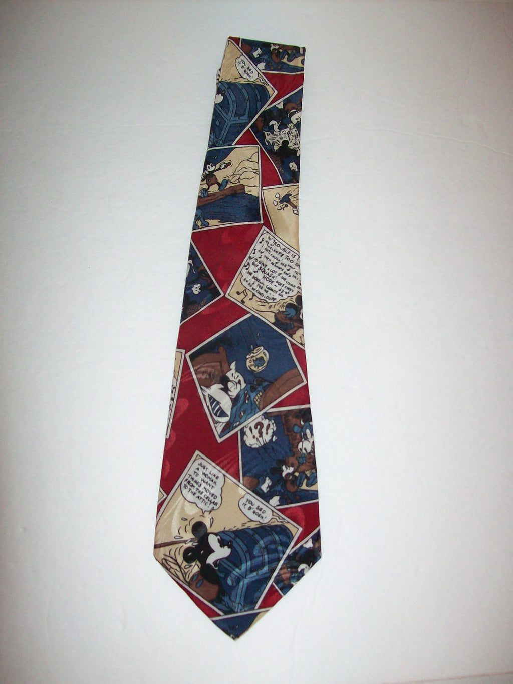 Mickey Mouse Comic Block Men's Neck Tie - We Got Character