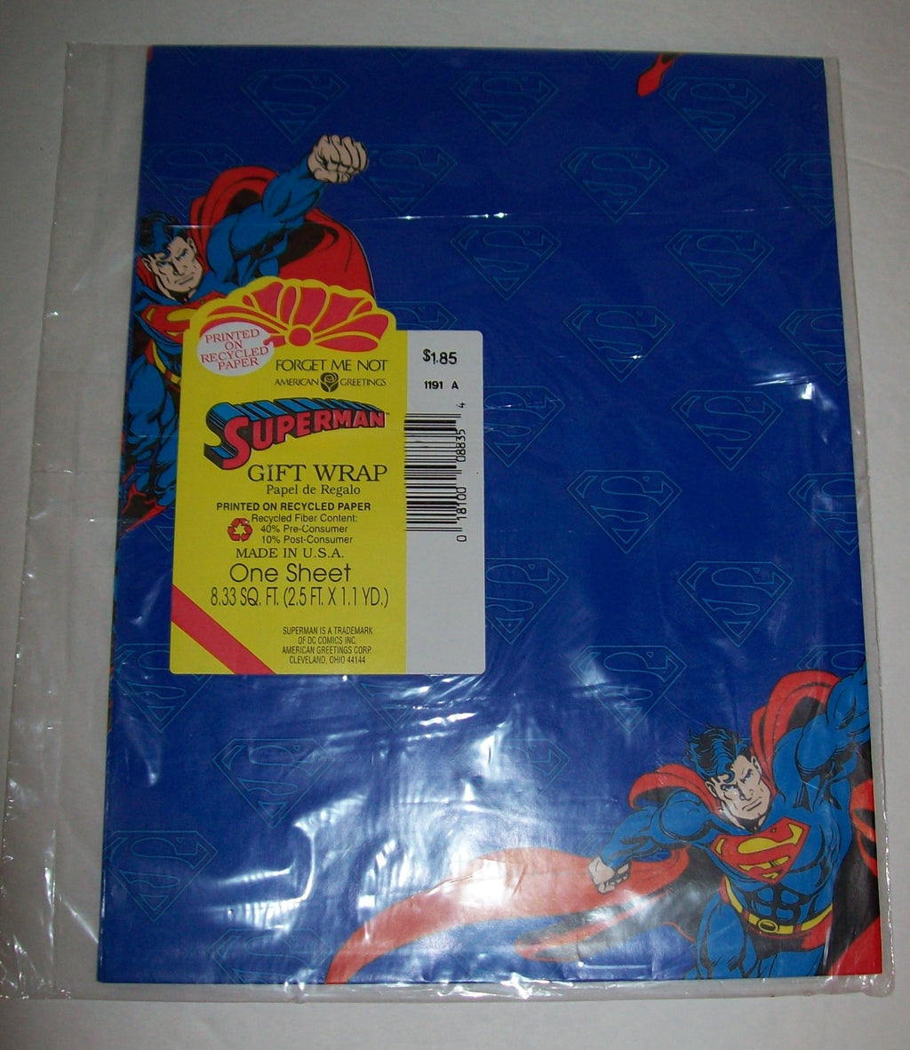 Superman wrapping paper by forget me not we got character superman wrapping paper by forget me not m4hsunfo
