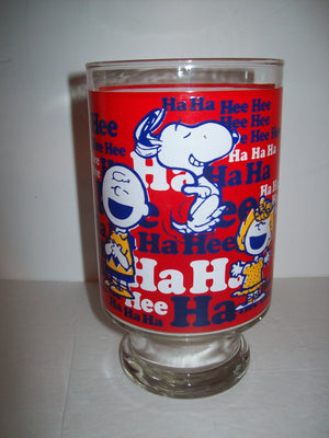 Large Snoopy Peanuts HA Ha Glass - We Got Character