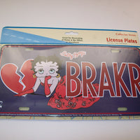 Betty Boop License Plate Heartbreaker Brakr - We Got Character