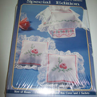 Bucilla Special Edition Row Of Roses Tissue Box & Sachets-We Got Character