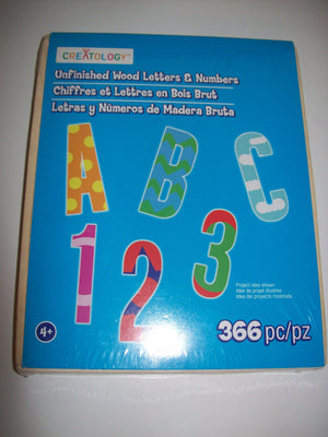 Creatology Unfinished Wood Letters & Numbers - We Got Character
