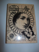 Hampton Art Stamps Jill Meyer Wooden Rubber Stamp Woman Collage - We Got Character