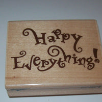 Rubber Stampede Happy Everything Wooden Rubber Stamp-We Got Character