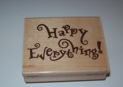 Rubber Stampede Happy Everything Wooden Rubber Stamp - We Got Character