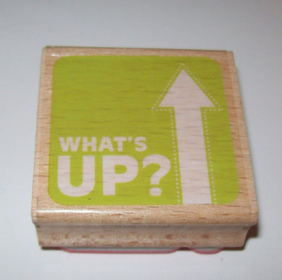 What's Up Wooden Rubber Stamp Sarah Coyle - We Got Character