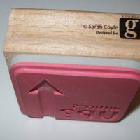 What's Up Wooden Rubber Stamp Sarah Coyle