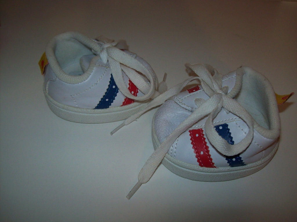 Build A Bear White Sneakers Shoes-We Got Character