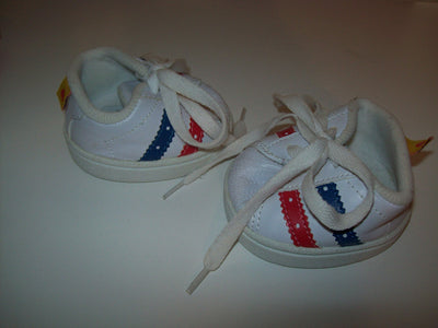 Build A Bear White Sneakers Shoes - We Got Character