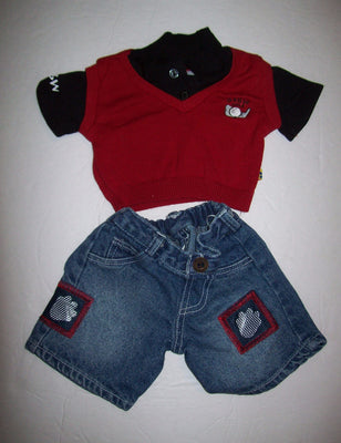 Build A Bear Golf Shirt & Shorts-We Got Character