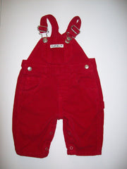 Baby Gap Blue Jeans Red Overalls - We Got Character