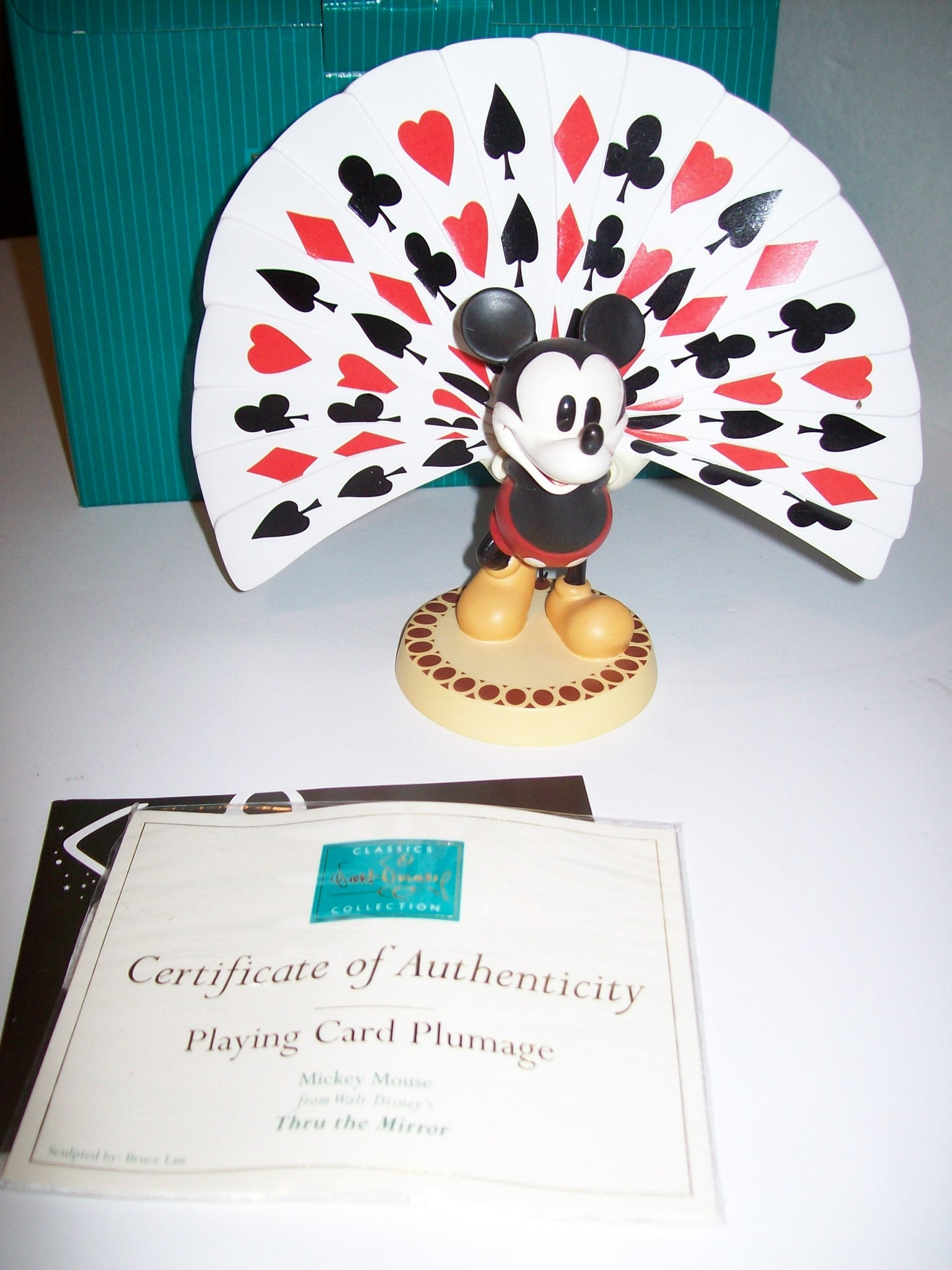 Mickey Mouse Playing Card Plumage WDCC Disney Figurine - We Got Character