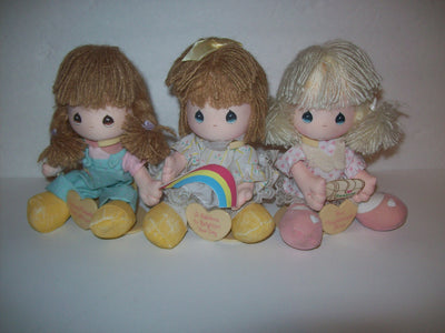 Lot of 3 Precious Moments Dolls - We Got Character