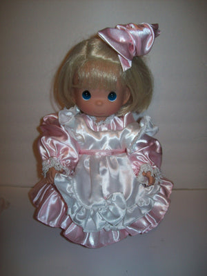Precious Moments Girl Doll In Pink