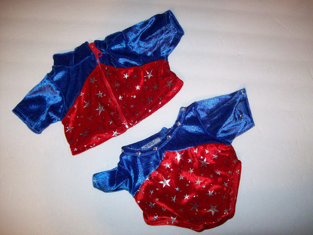 Build a Bear Gymnastics Olympics Jumpsuit Coat - We Got Character