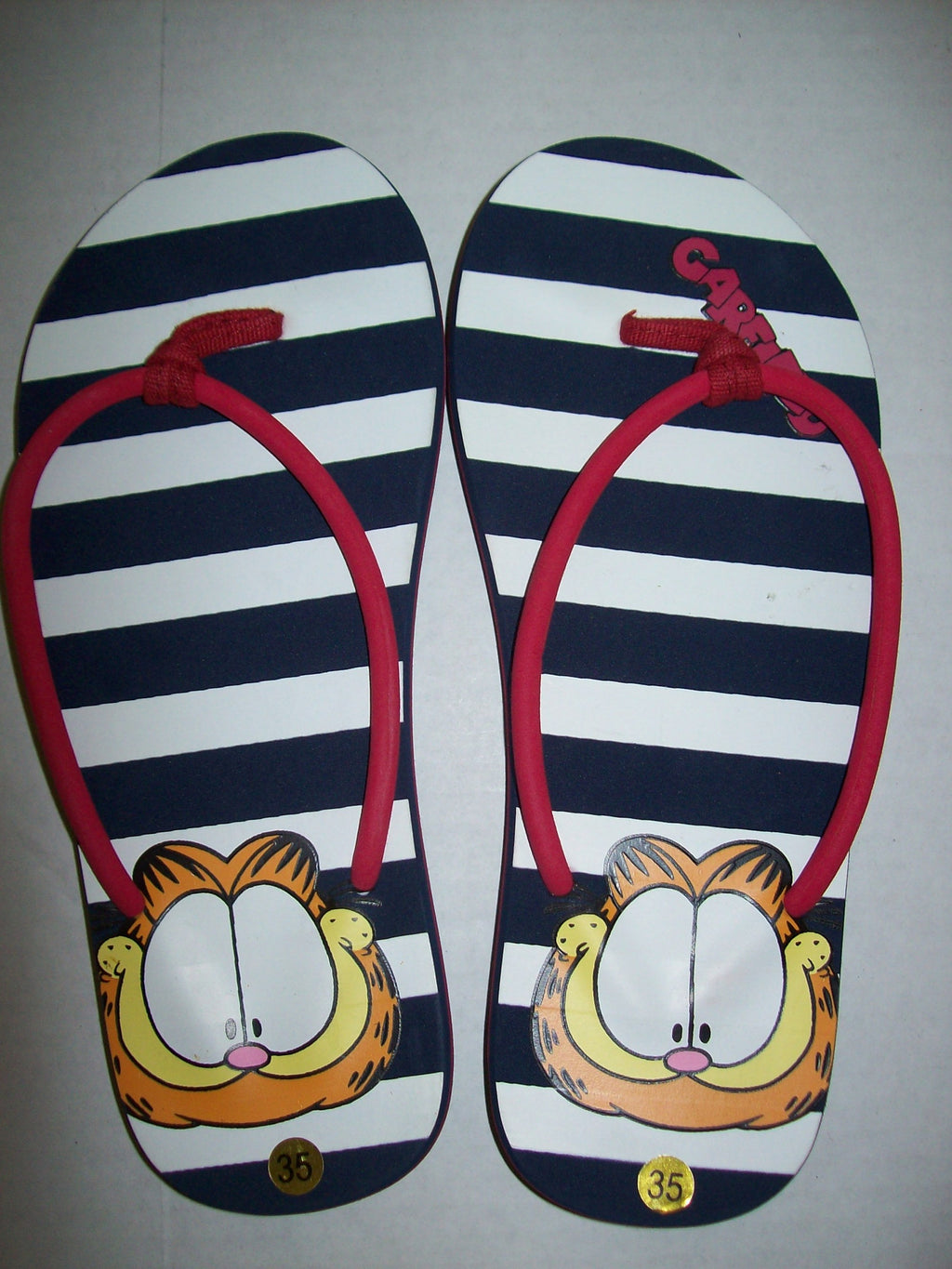 Garfield Striped Flip Flops - Simply Garfield