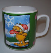 Garfield Coffee Cup Catching Snowflakes - Simply Garfield