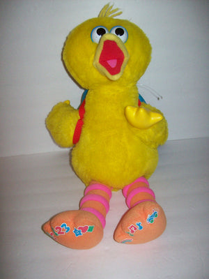 Play & Teach Big Bird Sesame Street Interactive Learning Plush Color Shapes ABC - We Got Character