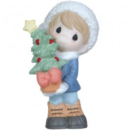 "Precious Moments ""Holidays Grow The Spirit"" Bisque Porcelain Figurine-We Got Character"