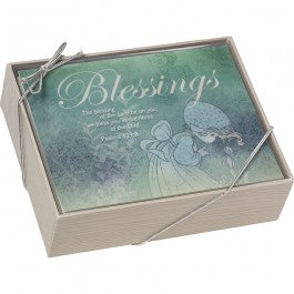 "Precious Moments ""Inspirational Greeting Cards"" Boxed Set of 12 Notecards with Envelopes - We Got  Character"