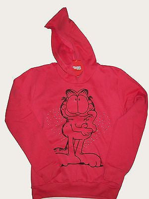 Garfield Pink Beaded Sweatshirt  Hoodie-We Got Character