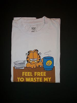 Feel Free To Waste My Valuable Time Garfield T Shirt