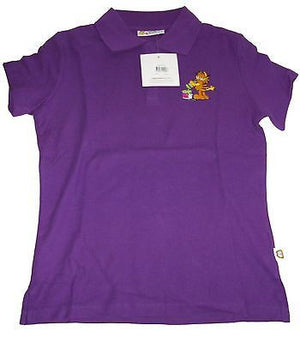Garfield Purple Polo Shirt Size L-We Got Character