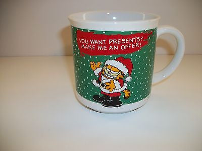 Garfield Coffee Cup You Want Presents Make Me An Offer -  Simply Garfield