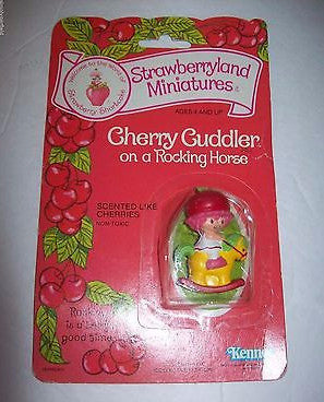 Strawberry Shortcake Cherry Cuddler On Rocking Horse Pvc Figurine-We Got Character