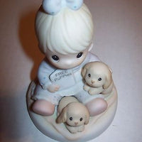 Precious Moments Figurine God Loves A Cheerful Giver