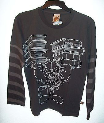 Garfield Bulk Up On Books Long sleeve Shirt Youth-We Got Character