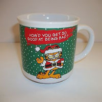 Garfield Christmas Coffee Cup On Being Bad-We Got Character