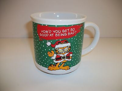 Garfield Christmas Coffee Cup On Being Bad