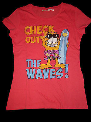 Check Out The Waves Garfield T Shirt